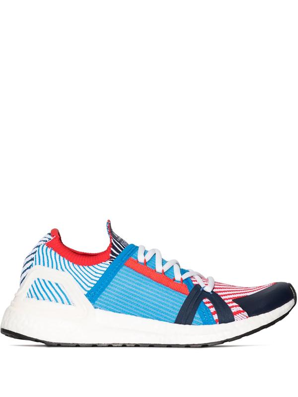 Adidas By Stella Mccartney Ultraboost 20 Stretch-knit Running Trainers In Blue