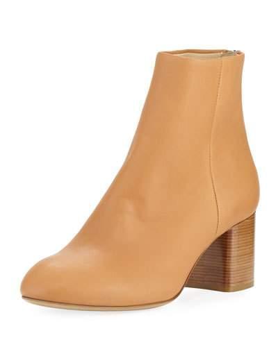 Rag Amp Bone Drea Napa Leather Mid Heel Ankle Boot In Birch