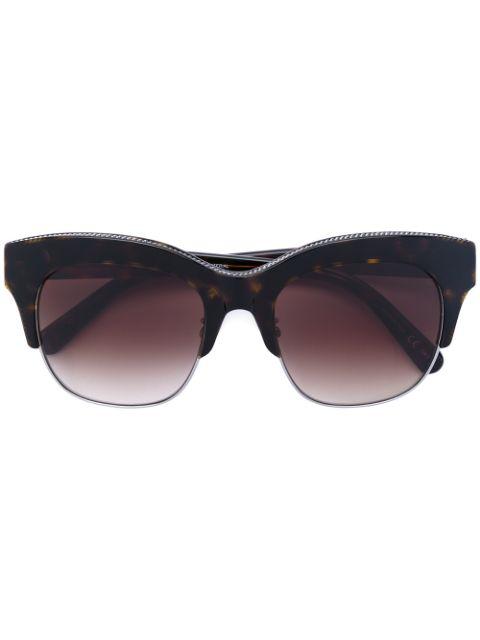 Stella Mccartney Eyewear Sonnenbrille Mit Zierkette - Braun