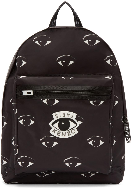 b7350a62 Black Nylon Eye Backpack