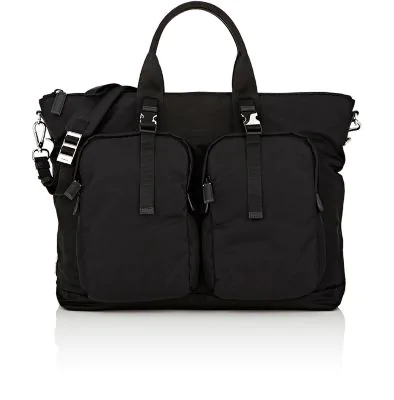 e761023d08b5 Prada Men's Tessuto Montagna Duffel Bag With Strap In Black | ModeSens