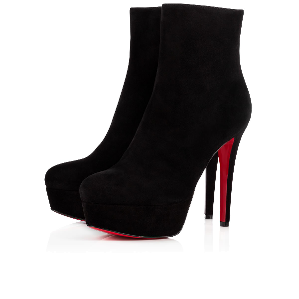 342ebdfa21 Christian Louboutin Bianca Suede Platform Ankle Booties In Charbon ...