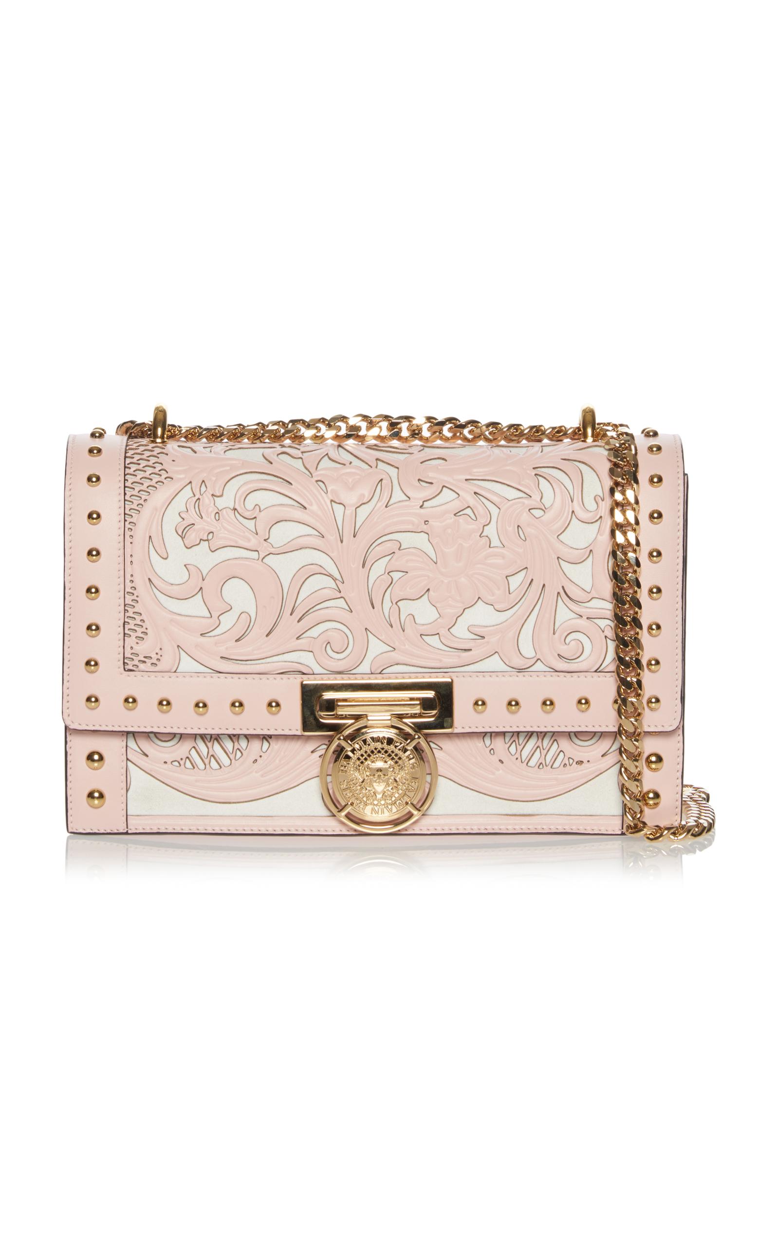 9038d99d17 Balmain Western-Studded Flap Shoulder Bag In Pink | ModeSens