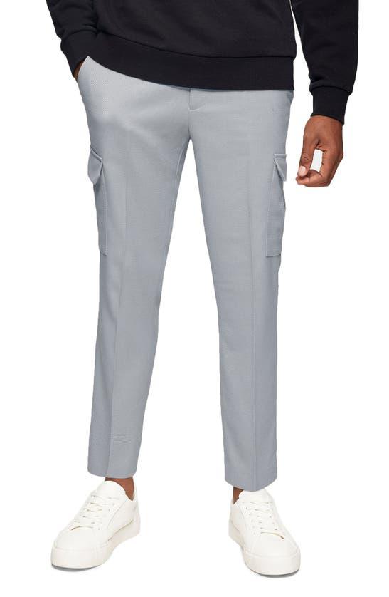 Topman Skinny Cargo Pants In Gray-grey