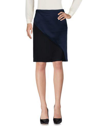 Cedric Charlier Knee Length Skirt In Dark Blue