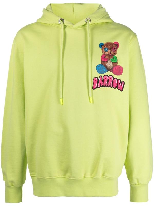 Barrow Yellow Hoodie With Print