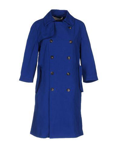 Marni Double Breasted Pea Coat In Blue