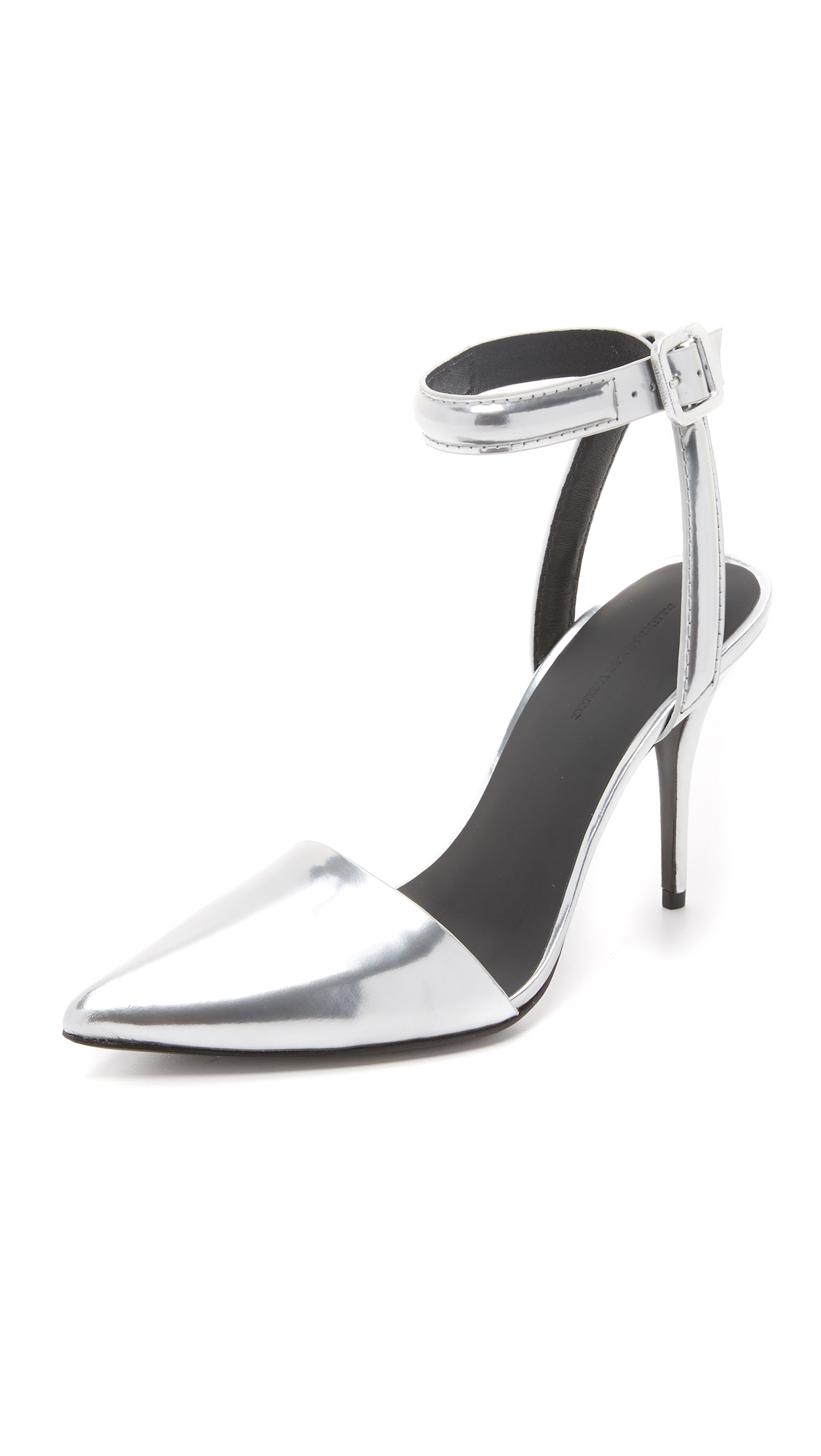 Alexander Wang From The Glossy Metallic Finish To The Sharp Pointed Toe, Th In Silver