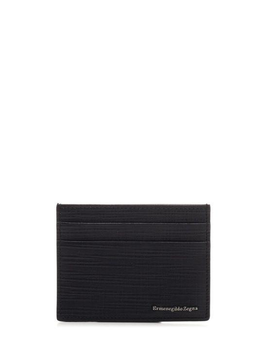 Ermenegildo Zegna Men's Lhjake1139jner Black Leather Card Holder