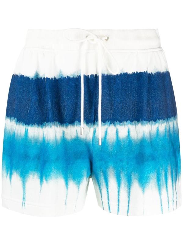 Alberta Ferretti Tie Dye Shorts In Light Blue