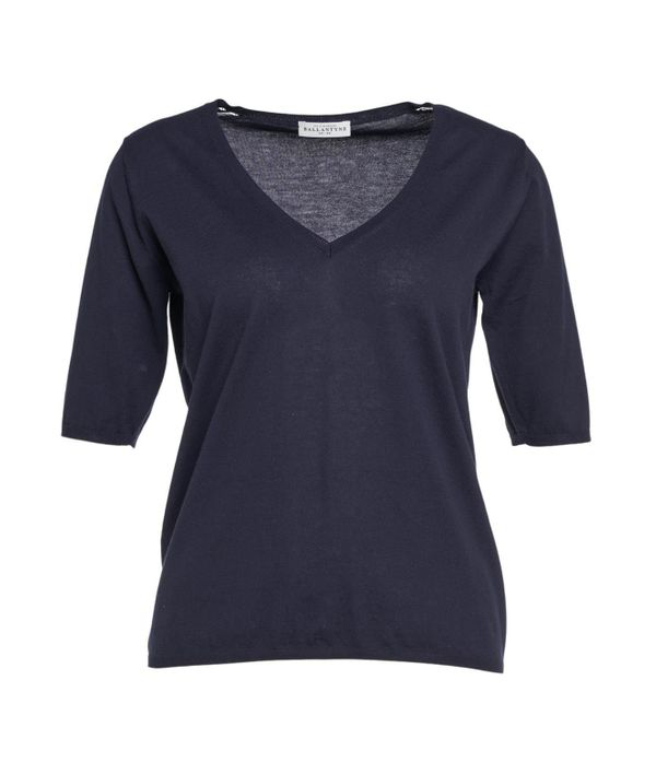 Ballantyne Knitted T-shirt In Blue