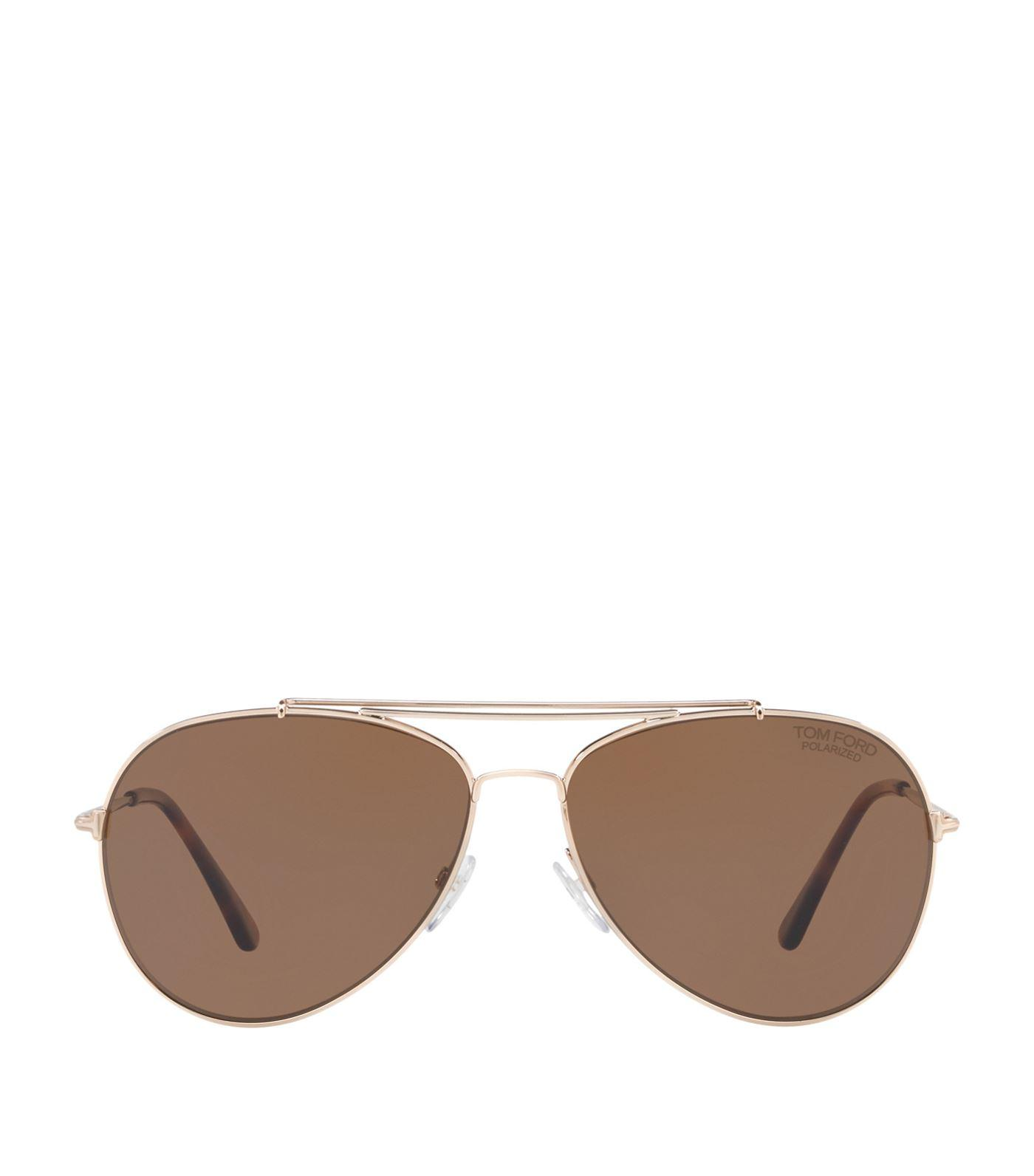 cb61da06d99 Tom Ford Indiana 58Mm Polarized Aviator Sunglasses - Brown  Blonde  Rose  Gold