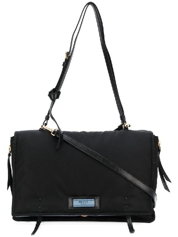 b7e40f193175 Prada Etiquette Large Nylon Flap Crossbody Bag In Black   ModeSens