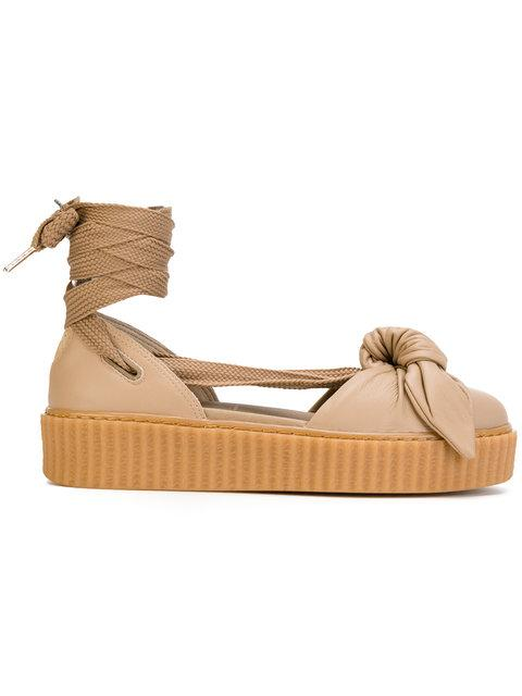 Fenty X Puma 30mm Bow Creeper Lace Up Sandal Sneakers In