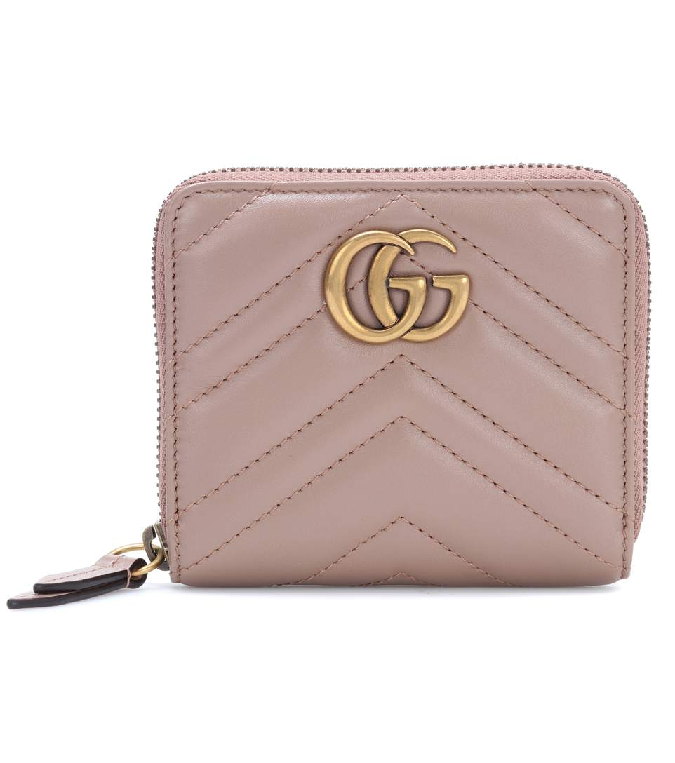 0294a5cfa Gucci Small Gg Marmont 2.0 Leather Zip Wallet, Pink In Neutrals ...