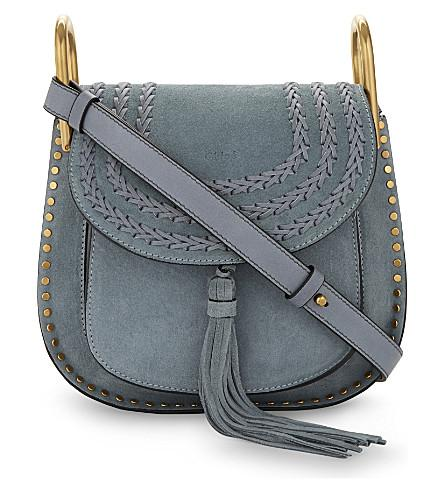 c9e8628f Hudson Small Suede Cross-Body Bag in Cloudy Blue