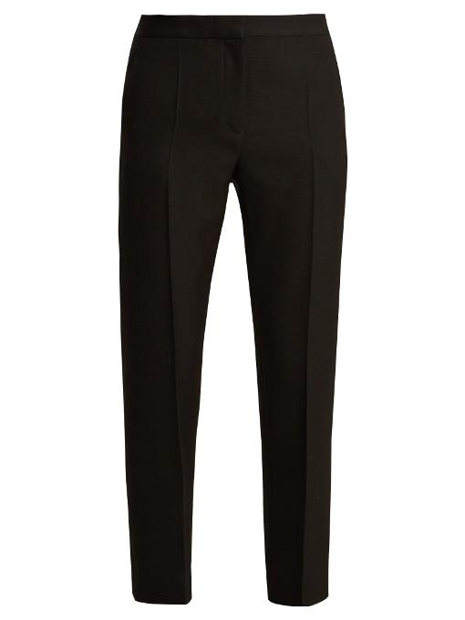 Haider Ackermann Calder Slim-Leg Wool Trousers In Black