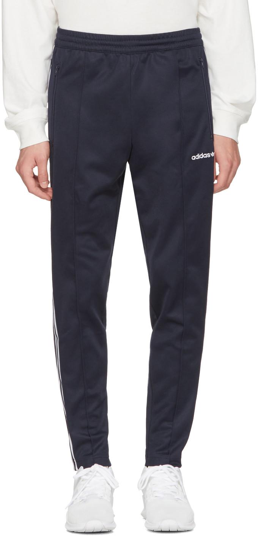 Adidas Originals Navy Open Hem Beckenbauer Track Pants