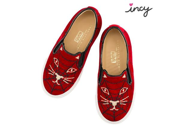 Charlotte Olympia Incy Cool Cat Spiderweb In Red