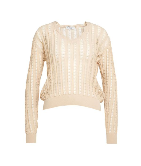 Ballantyne Light Knitted Sweater In Brown