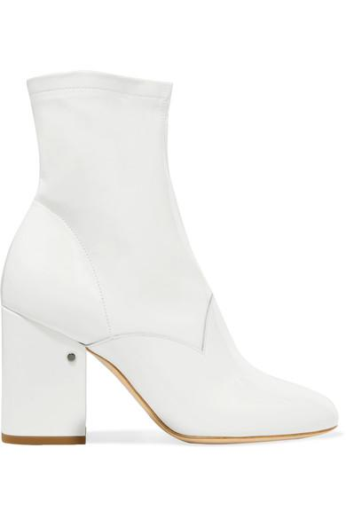 5715352354f Laurence Dacade Plume Patent-Leather Ankle Boots In White | ModeSens