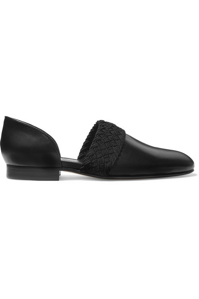 7157618caca Loewe Flex D Orsay Braided Leather Loafers In Black
