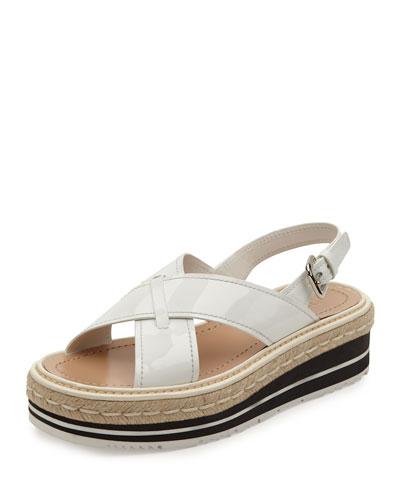 3f4e74599a4 Prada Crisscross Platform Sandal