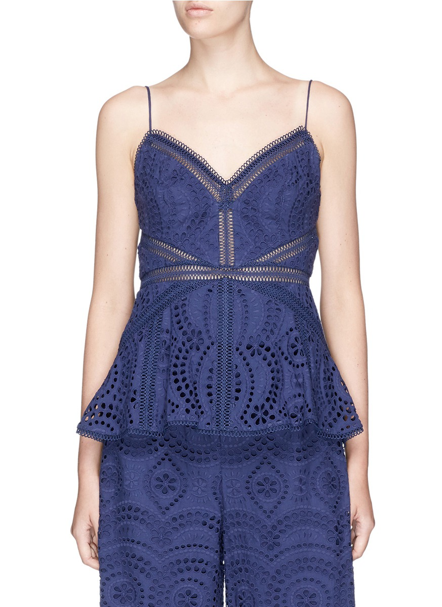 48750c25158399 Zimmermann  Paradiso  Broderie Anglaise Camisole