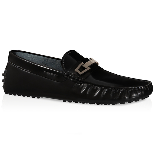 Tod's Gommino Driving Shoes In Leather In Black