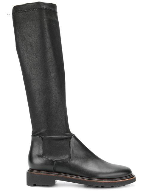 4884268c779 Robert Clergerie  Jeto  Stretch Leather Knee High Boots In Black. Farfetch