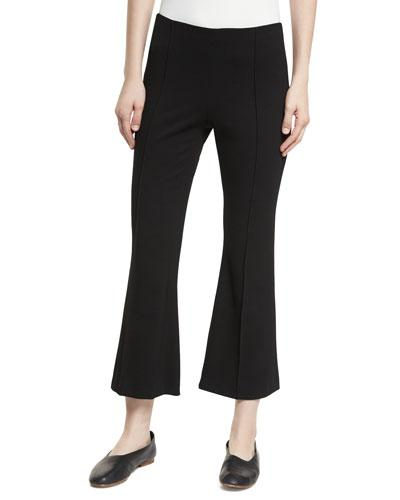 Rosetta Getty Cropped Flared Jersey Pants In Black
