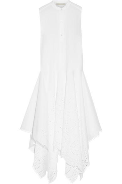 Stella Mccartney Woman Marion Broderie Anglaise Cotton Maxi Dress White