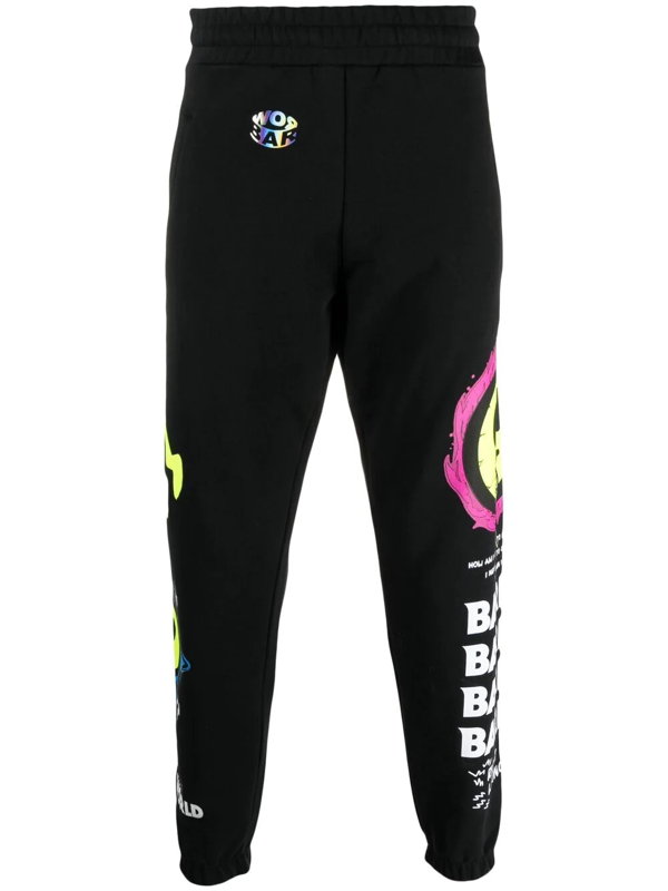 Barrow Joggers With Logo Embroidery In Black