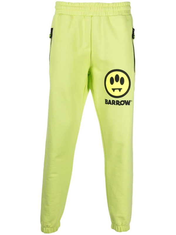 Barrow Smile Logo Tracksuit Bottoms In Yellow
