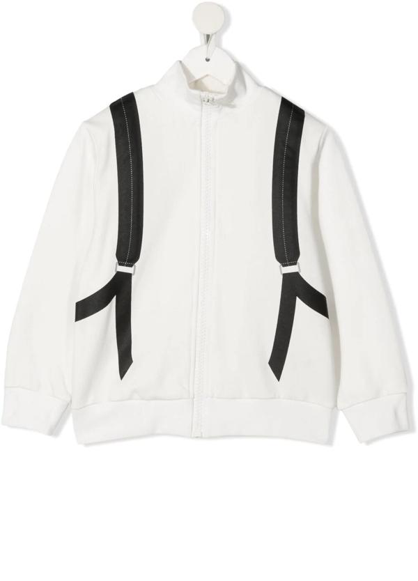 Fendi Teen Backpack-print Sweatshirt In White