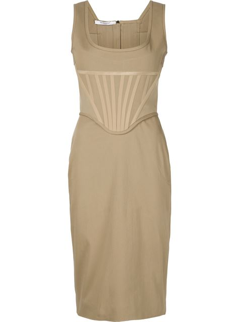 Givenchy Fitted Bustier Dress In Neutrals