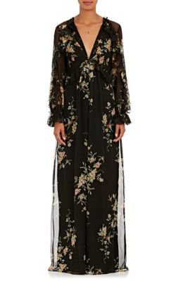2a1791b4229 Zimmermann Maples Feathery Floral Silk Chiffon Jumpsuit In Black ...