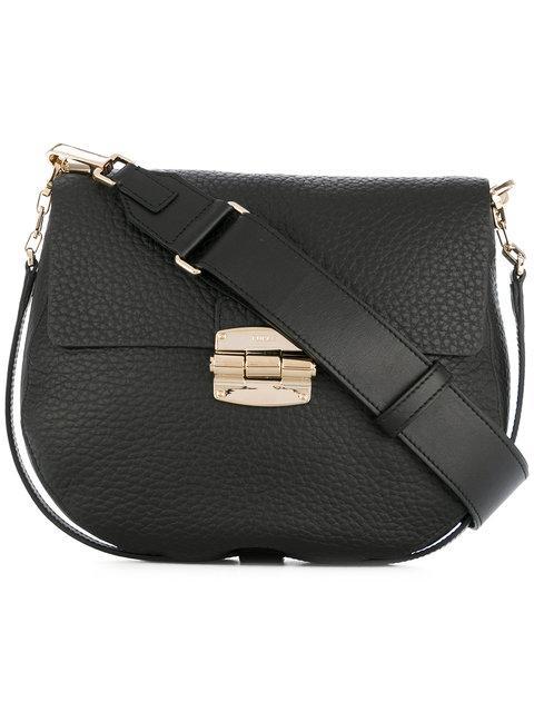 Furla Leather Shoulder Bag - Black