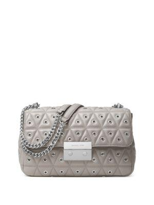 ae5927e37a8a Michael Michael Kors Sloan Grommet Large Quilted Leather Shoulder Bag In Pearl  Grey