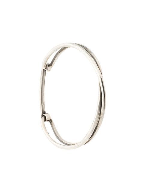 Werkstatt:münchen Crossed Bracelet In Metallic