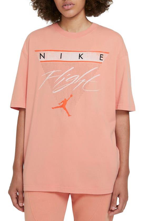 Jordan Flight Women's Short-sleeve T-shirt In Apricot Agate