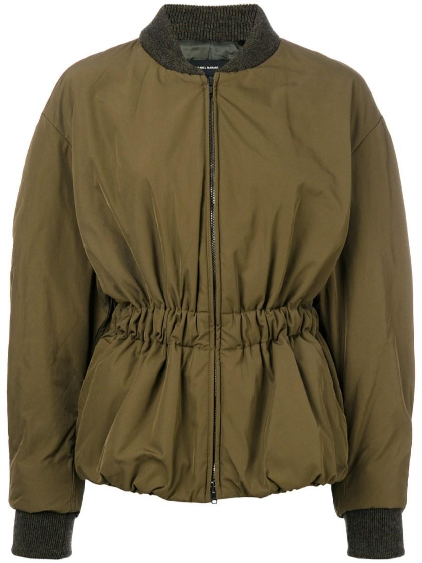1dbbb3804 Dex Short Bomber-Style Jacket in Green