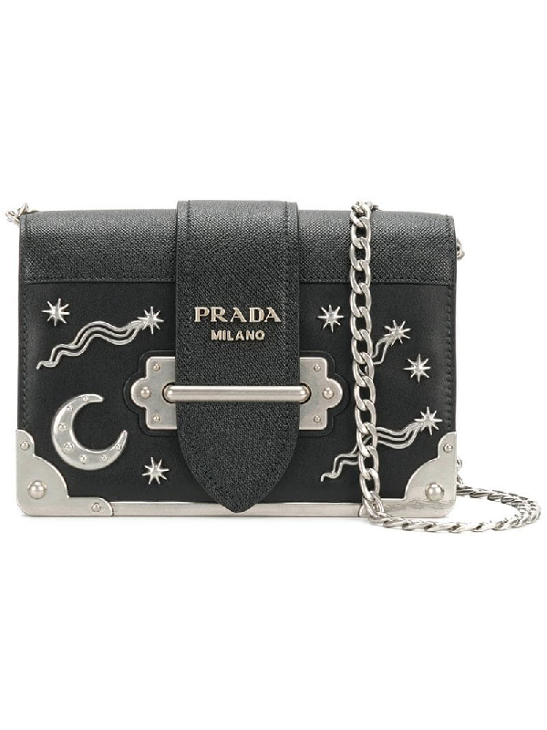 71591024f6a1 Prada Cahier Small Stars Moon Trunk Crossbody Bag In Black | ModeSens