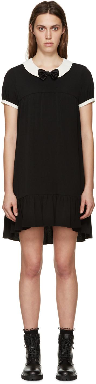 Saint Laurent Bow Detail Smock Dress