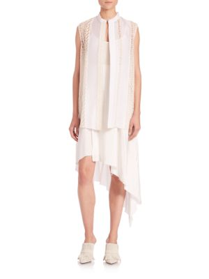 3.1 Phillip Lim Embroidered Layered Dress In Cream