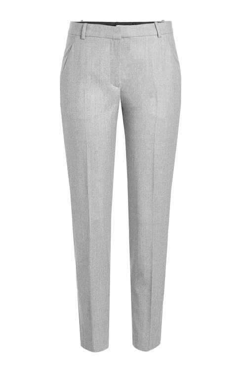 Carven Cropped Wool Pants In Grey