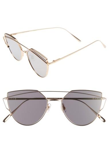 bf17a061e8eb Gentle Monster Love Punch 55Mm Titanium Aviator Sunglasses - Gold Mirror