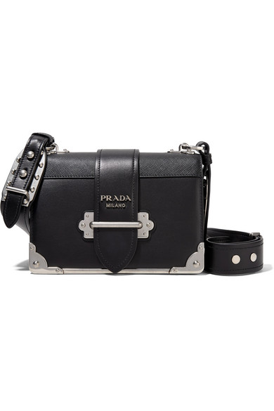 212c1b3181ce Prada Cahier Leather Shoulder Bag In Black | ModeSens