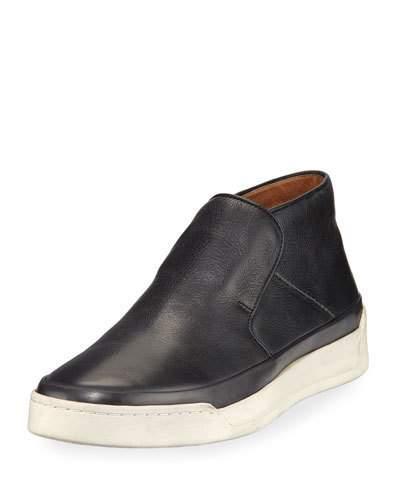 John Varvatos Men's Remy Leather Mid-Top Slip-On Sneakers In Black