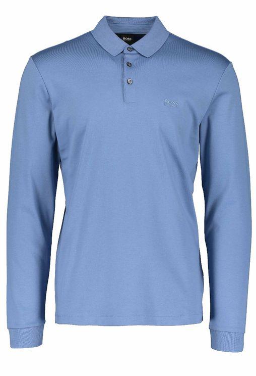 Boss Business Mens Boss Pado 11 Polo Shirt In Blue